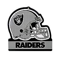"""Party Animal Oakland Raiders Embossed Metal NFL Helmet Sign, 8"""" x 8"""""""