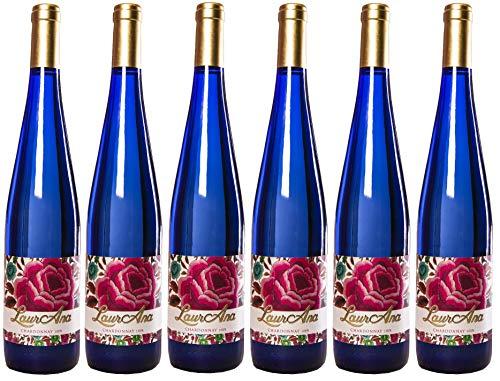 LaurAna Chardonnay Ecologico - Vino Blanco Organico - Vino de la Tierra de Castilla- 6 botellas x 750 ml