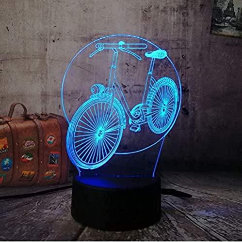 Lámpara de luz de 7 colores para bicicleta 7 colores cambiantes para niños castillo de Navidad regalo de guardería infantil luz nocturna 3D