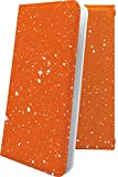 Galaxy A20 SC-02M ケース 手帳型 星 星柄 星空 宇宙 夜空 星型 星空 オレンジ ギャラクシー ……