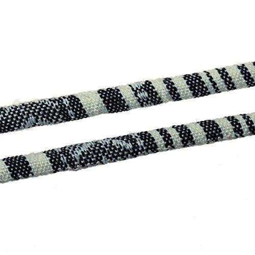 Sadingo Aztek Kordel, Ethno Band, Baumwollkordel - 1 Meter - 6 mm breit - Muster wählbar, Muster:6