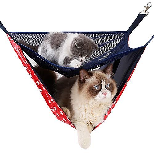 ETOPARS Amaca da Appendere per Gatti, Letto Sospeso a Doppio Uso Cat Cage a Due Strati, Amaca Gabbia per Animali Domestici, Amaca per Gatti per Cucciolo Conigli
