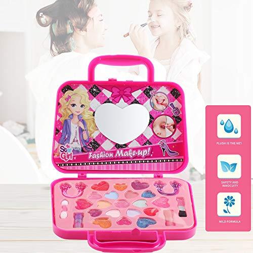 Walmeck- Set Trucco Trucco Giocattolo Pretend Gioca Kit Cosmetici per Ragazze Kit di Sicurezza Ambientale per Bambini