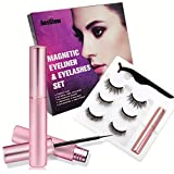Reusable Magnetic Eyelashes with Eyeliner,Natural look waterproof Magnetic eyeliner and Eyelashes Kit, Light weight & Easy to Wear, Best 3D Reusable Eye, No Glue Needed (3 PAIRS)