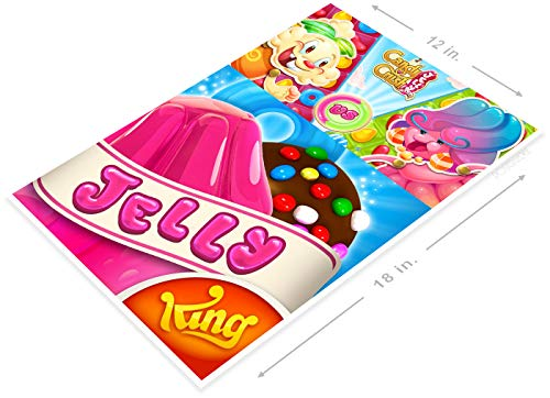 PosterGlobe Poster B164 Jelly Candy Crush Smart Phone App Icon 12' x 18'