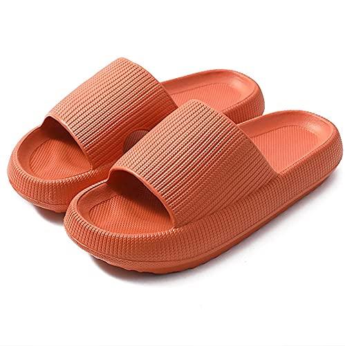 Zapatos de Ducha súper Suaves Sandalias Suaves de Secado rápido para Mujer, Hombre, Antideslizantes, Ligeras, con Suela Gruesa, para Exteriores, Interiores y Ducha,01,36 EU