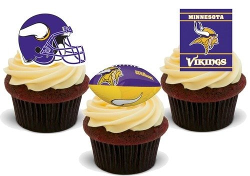 American Football Minnesota Vikings Trio Mix - 12 essbare Kuchendekorationen