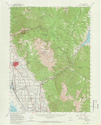 YellowMaps Orem UT topo map, 1:62500 Scale, 15 X 15 Minute, Historical, 1948, Updated 1966, 20.9 x 17 in - Paper (Best Places To Work Remotely In Minneapolis)