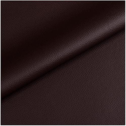 HANYU 29 Colores Cuero Sintético Textura De Grano De Litchi Tela De Cuero Sintético Tela De Cuero De Vinilo Tapicería Material Texturizado,Un Metro 100cm X 138cm(Color:14#)