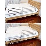 Bett Haltegriff, Sicherheit Edelstahl-Bettgitter, Stabilität Hilfe, for Senioren, Behinderte, Zusammenklappbaren Bett Haltegriff Schutzgeländer (Size : 90cm) - 3