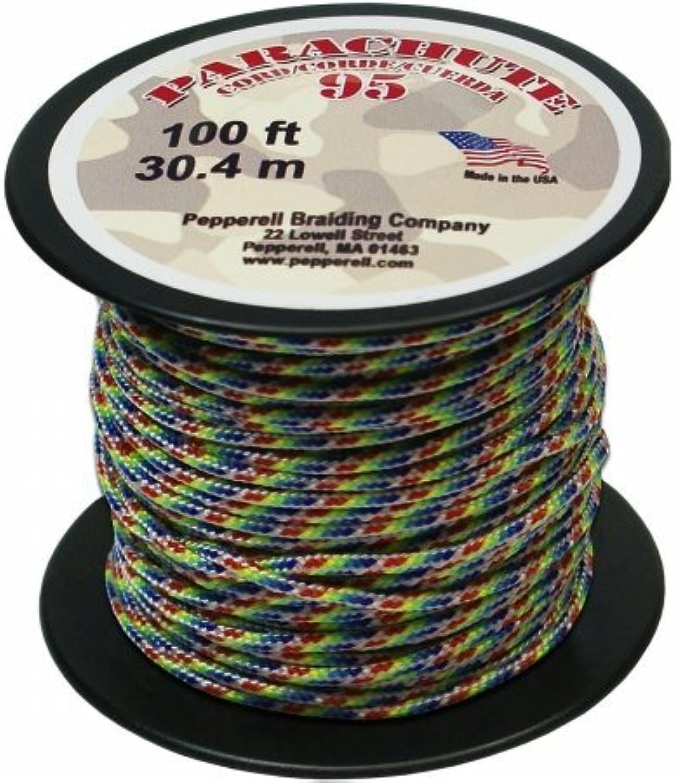 Parachute Cord 1.9mm 100 Pkg-Tie-Dye Rainbow by Pepperell