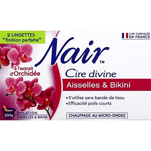 Nair - Cire Divine, Maillot, Aisselles, Extrait D'Orchidée Bleue, Spéciale Micro-Ondes - 100G - Lot De 3 - Vendu Par Lot - Livraison Gratuite En France