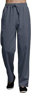 Xmiral Pantaloni Regular Fit Uomo Pantaloni Lunghi Casual in Cotone Moda Casual Pantaloni Casual da Spiaggia
