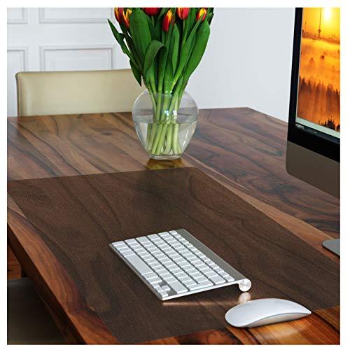 Sous-main de bureau casa pura® PVC   protection meuble, table   discret   marron transparent, 50x65cm