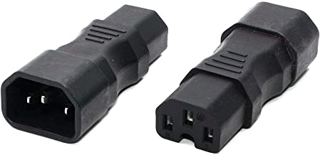IEC 320 C13 Male to C15 Kettle Plug Female Power Adapter C16 to C14 Plug Converter