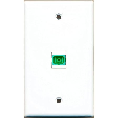Amazon.com: RiteAV - 1 Port Fiber SC APC Simplex Wall Plate - Bracket  Included : Electronics