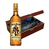 Morgan's Spiced Rum In Luxury Box With Royal Scot Glass