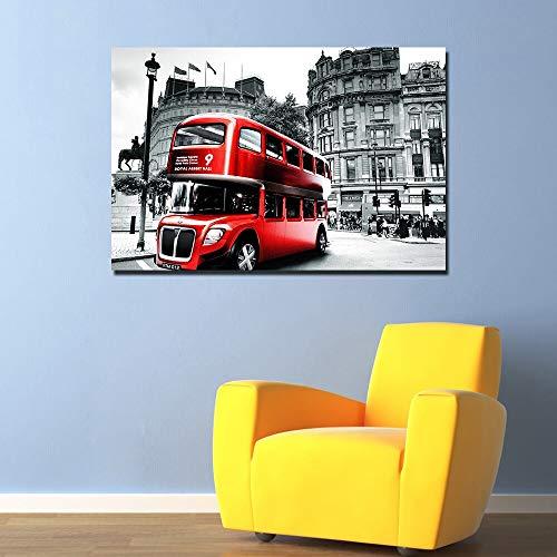 PLjVU London Cityscape Poster Lienzo de Pintura para decoración del hogar Imagen de Arte de Pared para Sala de Estar-Sin marco50x75cm