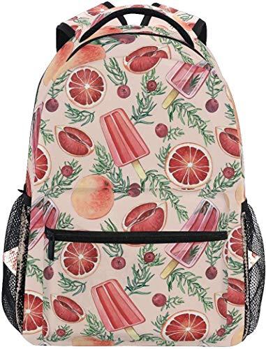 Schulrucksack Sommer EIS und Cranberry Bookbag für Jungen Mädchen Reisetasche