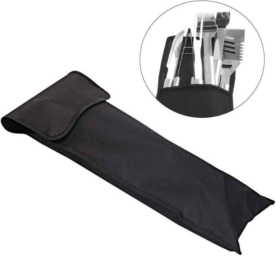 HilMe Sac à outils de barbecue pliable, grande capacité, portable, Pas de zéro, Noir , Taille unique Noir