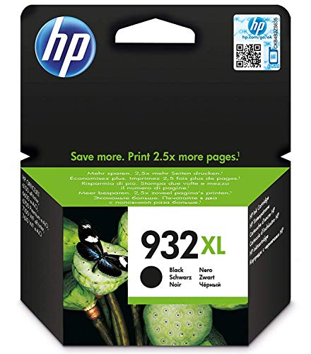 HP 932 XL CN053AE, Cartuccia Originale, da 1.000 Pagine, Compatibile con Stampanti a Getto di Inchiostro HP OfficeJet 6100, 7610 e 7612; HP OfficeJet 6600, 6700, 7110 e 7510, Nero