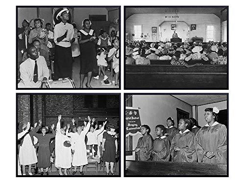 African American Wall Art - Black History - Religious Wall Decor - Black Culture - African American Culture - Christian Church - Afro Wall Art - Black Christian Wall Art - Vintage Historic Photos