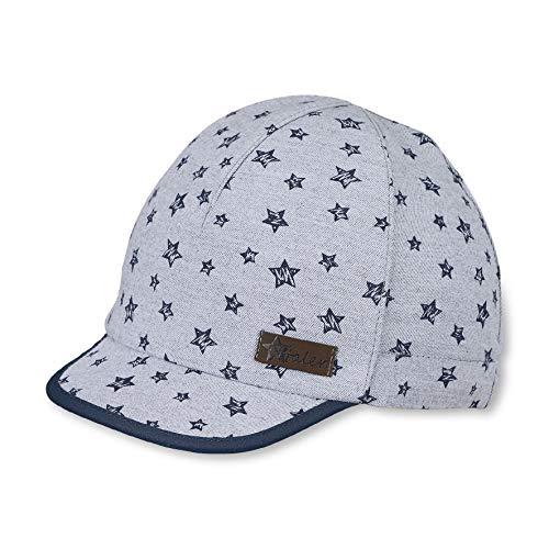 Sterntaler Schirmmütze für Jungen mit Sternchen-Muster, Alter: 2-4 Jahre, Größe: 53, Rauchgrau
