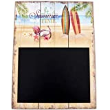 Dadeldo Living & Lifestyle Wandbild Tafel Beach Design MDF 40x30cm bunt Holzschild Deko Trend (Design 2)