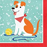 Neu: 16 Servietten * Hunde * für eine Haustierparty | Jack Russell Terrier Hund Haustier Party Mottoparty Kinder Geburtstag Motto Knochen Leine Tatze