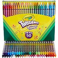 50-Count Crayola Twistables Colored Pencil Set