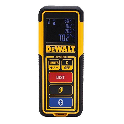 DEWALT Laser Measure Tool/Distance Meter, 100-Feet with Bluetooth (DW099S)