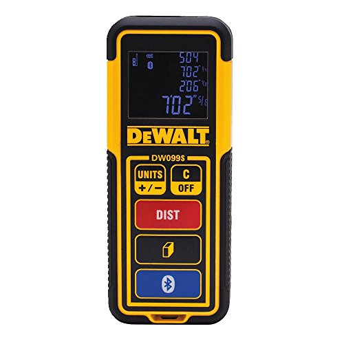 DEWALT Laser Measure Tool/Distance Meter, 100-Feet with Bluetooth (DW099S)