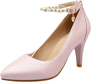 BeiaMina Women Fashion Pointed Toe Pumps High Heel