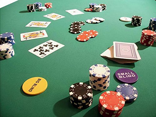Biotin Pokertuch Casino Spieltuch Poker Stoff Pokertisch Auflage Tischtuch Tischdecke (grün, 250x160 cm)
