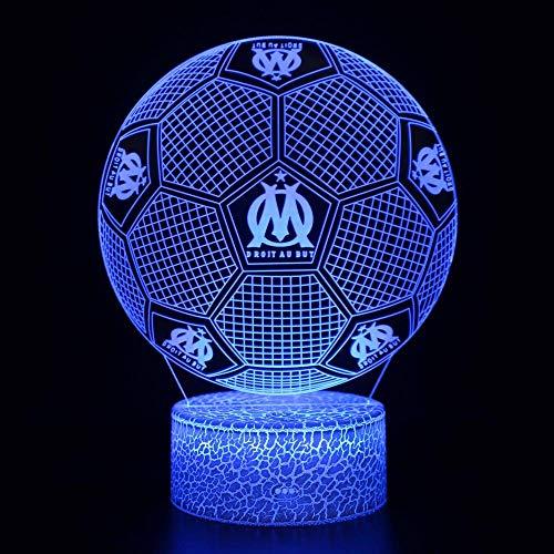 certainPL Entusiasta del Baloncesto, Cool Man 3D LED Luz de Noche DecoraciónLámpara USB Dormitorio Luz de sueño 7 Cambio de Color Coche RC para bebé, Niños Regalos de cumpleaños