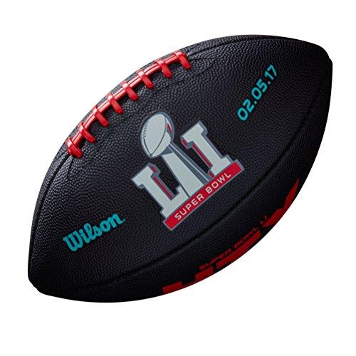 Wilson American Football für Kinder, limitierte Edition NFL 51. Super Bowl, schwarz