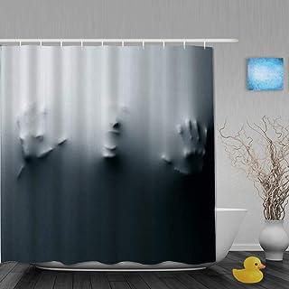 Happy Halloween tema horror calavera fantasma Juego De Cortina De Ducha Tela Impermeable