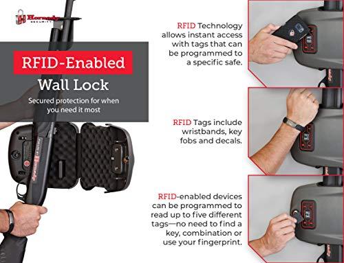 Hornady Rapid Safe Shotgun Wall Mount Lock – Keep Your Shotgun at The Ready – RFID Safe for Fast, Multiple Method Entry – Includes Rapid Safe, RFID Wristband, Key Fob, 2 Decals, 2 Barrel Keys
