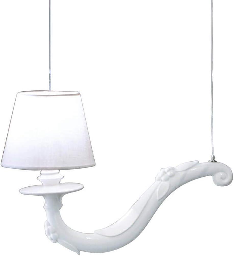 Karman déjà vu, lampada a sospensione, con braccio 45 cm, in ceramica SE627 45B - SR0143B INT