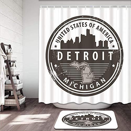 kThrones 2-teiliges Badvorleger-Set,Duschmatte+Duschvorhang,New Wilmington (newwilmington) auf Pinterest,rutschfeste Badvorleger für Küche,Dusche und Toilette(180x180cm)