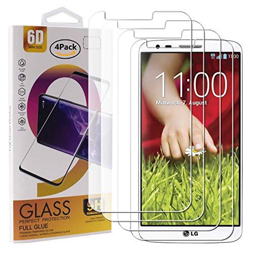 Guran 4 Paquete Cristal Templado Protector de Pantalla para LG G2 Smartphone...