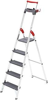Hailo ProfiLine S150 XXL Alu-Stufenstehleiter 3 XXL-Stufen, Plattform-Verriegelung, belastbar bis 150 kg, Ablageschale 8813-027