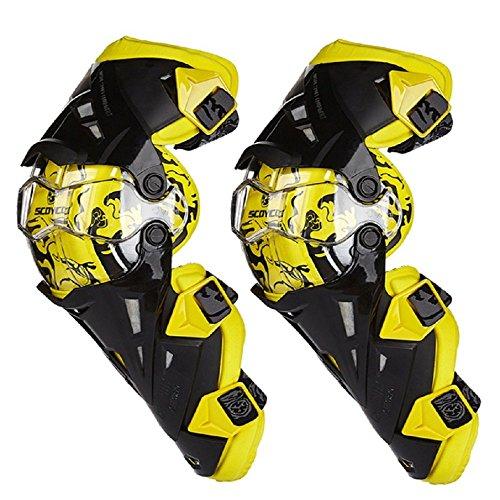 Kneepad motorfiets mountainbike anti-slip anti-slip bescherming cover knie pad verstelbare lange been pak -1 paar