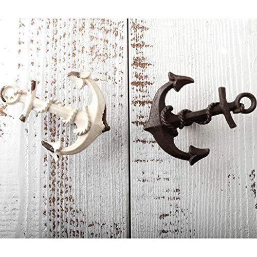 CCEKD Türgriff Mediterraner Stil Schubladengriff Alter Anker Kreativer Schrankgriff Vintage Schranktürgriff Einlochmontage, Kaffee