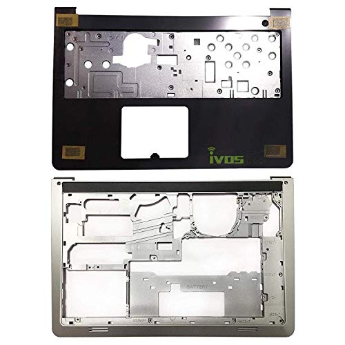 Lenboes Laptop Palmrest Upper Case Keyboard Bezel (NO Touchpad) and Bottom Case Base Cover Chassis Replacement for Dell Inspiron 15-5547 5542 5545 5548 AP13G000100 0K1M13 006WV6