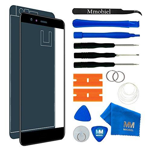 MMOBIEL Front Glas Reparatur Set kompatibel mit Huawei P10 Lite (Midnight Black) 5.2 Inch Display mit Werkzeug-Set