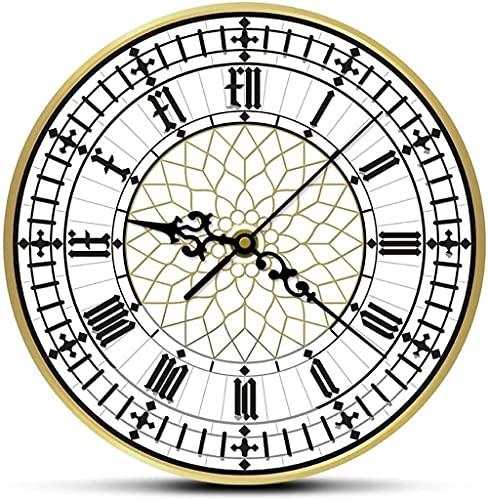 Reloj de pared Big Ben Reloj de pared moderno contemporáneo Reloj de pared retro silencioso sin garrapatas Inglés Decoración del hogar Gran Bretaña Londres Regalo