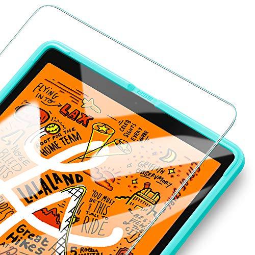 ESR iPad Mini 5 2019とiPad Mini4 ガラスフィルム ブルーライトカット 3倍強化ガラス液晶保護 9H スクラッチ防止 指紋付きにくい 気泡ゼロ 自動吸着 貼り付け枠付き iPad Mini 5とiPad Mini4通用保護フィルム