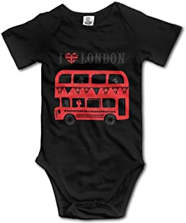 I Love London Romper Baby Boys Girls Short Sleeve Bodysuit Jumpsuit
