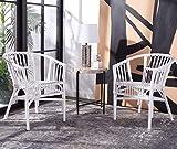 Safavieh Home Adriana Coastal White Rattan (Set of 2) Accent Chair